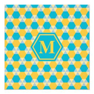 Scuba Blue and Yellow T-H Invitation