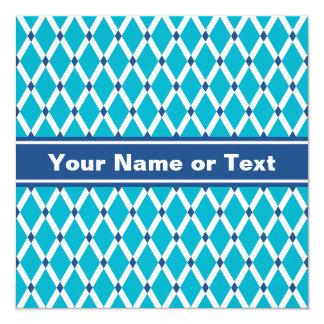 Scuba Blue Diamonds-White Frames Invitation