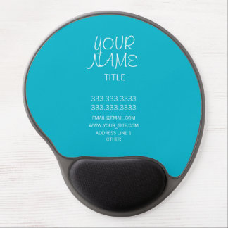 Scuba Blue Freehand Simple Gel Mouse Pad