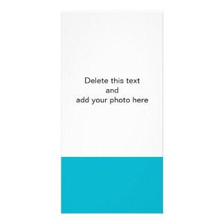Scuba Blue High End Solid Color Custom Photo Card