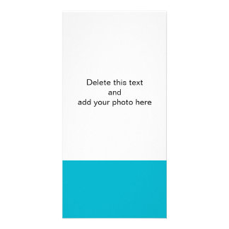 Scuba Blue High End Solid Color Photo Greeting Card