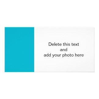 Scuba Blue High End Solid Color Picture Card