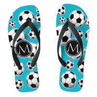 Soccer Ball Pattern Flip Flops