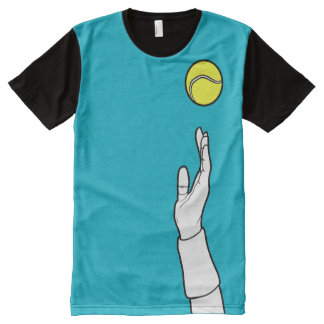 Scuba Blue - Tennis Serve All-Over Print T-Shirt