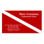 Scuba Business - Personal Card - Dark Red Pack Of Standard Business Cards