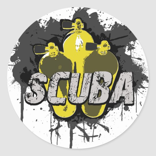 Scuba Classic Round Sticker