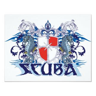 SCUBA CREST 11 CM X 14 CM INVITATION CARD