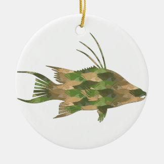 Scuba Deb's Camo Hogfish Round Ceramic Decoration