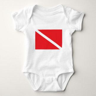 SCUBA Dive Flag Baby Baby Bodysuit