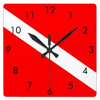 Scuba Dive Flag Clock