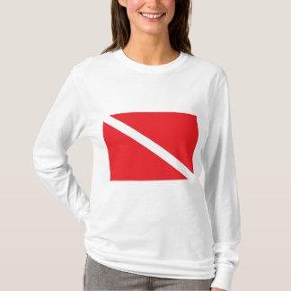 SCUBA Dive Flag Ladies Hooded T-Shirt