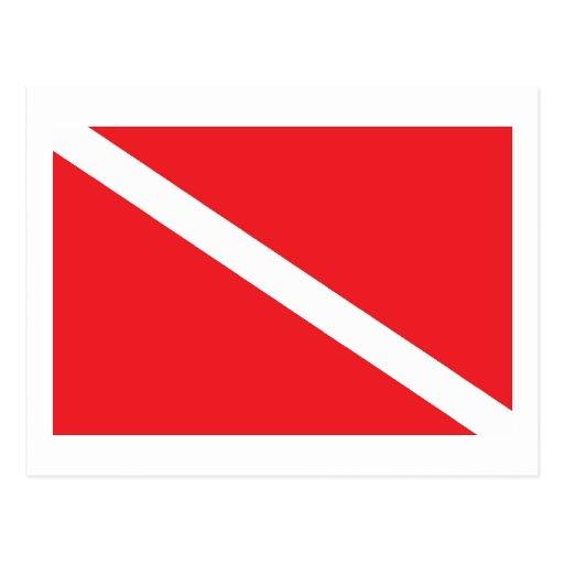 SCUBA Dive Flag Postcards