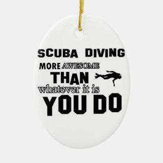 scuba dive  more awesome ceramic oval decoration