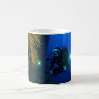 Scuba Dive on the Great Barrier Reef Basic White Mug
