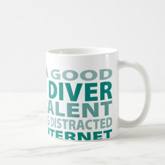 Scuba Diver 3% Talent Basic White Mug