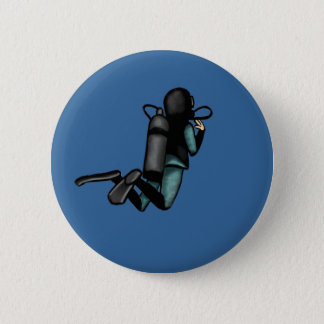 Scuba Diver 6 Cm Round Badge