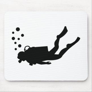 Scuba diver bubbles mouse mat