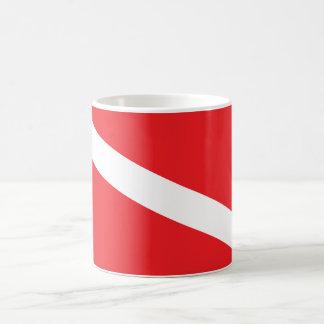 Scuba Diver Dive Flag Mug