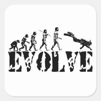 Scuba Diver Diving Evolution Sports Art Sticker