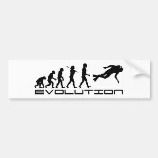 Scuba Diver Diving Water Sport Evolution Art Bumper Sticker