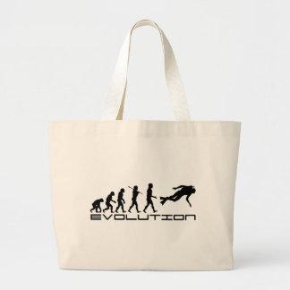 Scuba Diver Diving Water Sport Evolution Art Jumbo Tote Bag