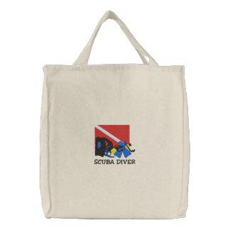 SCUBA Diver Embroidered Bag Bag