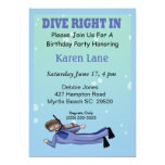 Scuba Diver  Kids Birthday Invitation