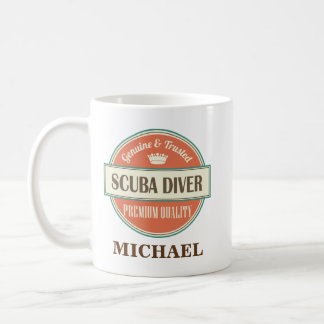 Scuba Diver Personalized Office Mug Gift