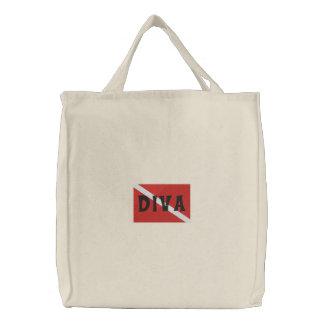 "SCUBA Diver ""SCUBA Diva"" Embroidered Bag"