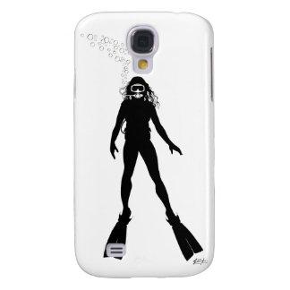 Scuba Diver Silhouette (Woman) Galaxy S4 Case