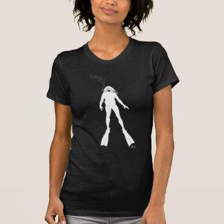 Scuba Diver Silhouette (Woman) T-Shirt