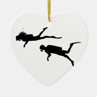 Scuba Divers Christmas Ornament