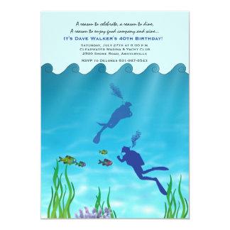 Scuba Divers Invitation