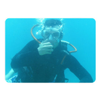 Scuba Diving 13 Cm X 18 Cm Invitation Card
