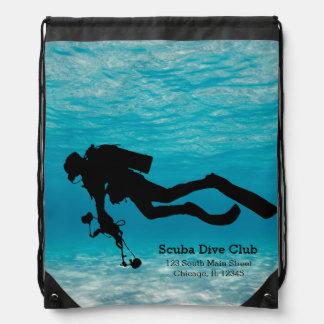 Scuba Diving Drawstring Backpack