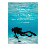 Scuba diving birthday party 13 cm x 18 cm invitation card