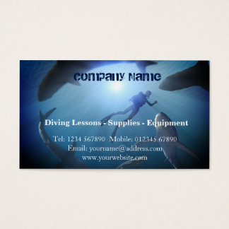 Scuba diving business card