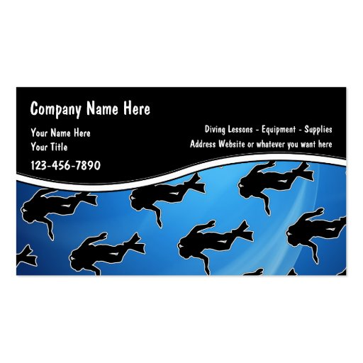 Scuba Diving Business Cards