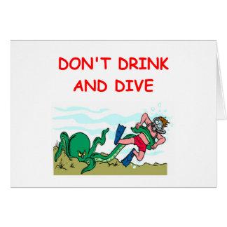 scuba diving cards