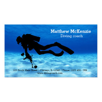 Scuba diving coach pack of standard business cards
