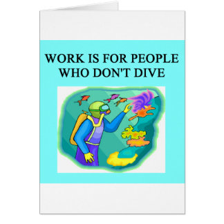 scuba diving design card