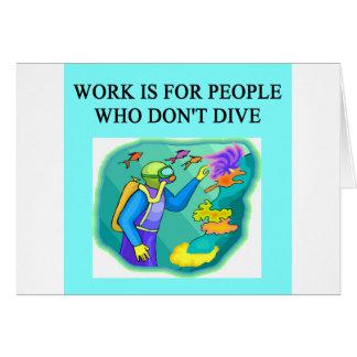 scuba diving design card