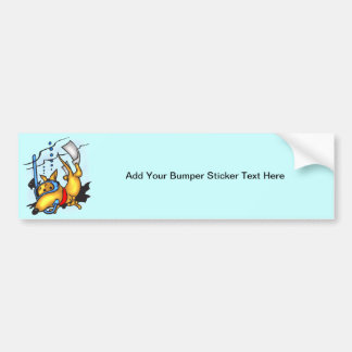 Scuba Diving Dog Bumper Sticker