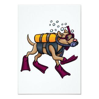 Scuba Diving Dog Invitations