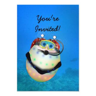 Scuba Diving Easter Egg Card