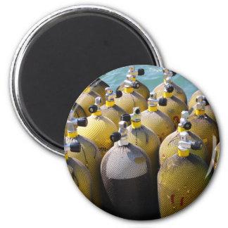 Scuba Diving Equipment 6 Cm Round Magnet