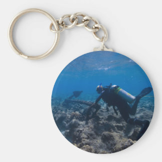 Scuba Diving Excavation Key Ring