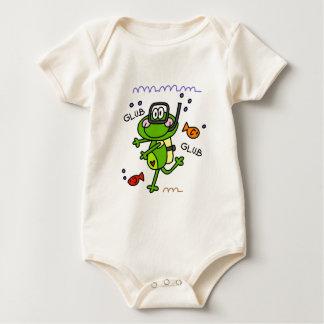 Scuba Diving Froggie Boy Baby Organic Baby Bodysuit
