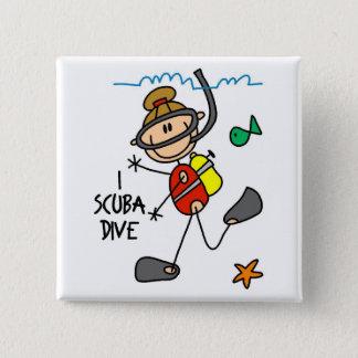 Scuba Diving Gift 15 Cm Square Badge