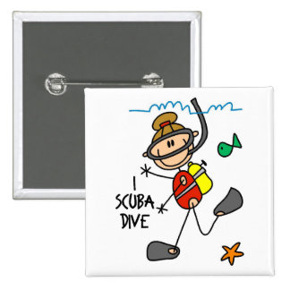Scuba Diving Gift 15 Cm Square Badge